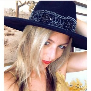 THE STEVIE Boho Gypsy Wide Brimmed Hat